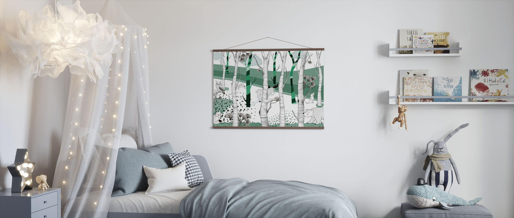 Woodland - Green - Poster - Kids Room