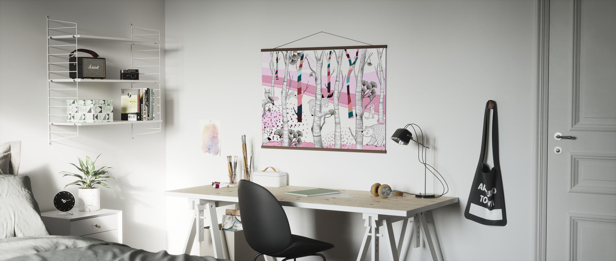 Woodland - Pink - Poster - Office