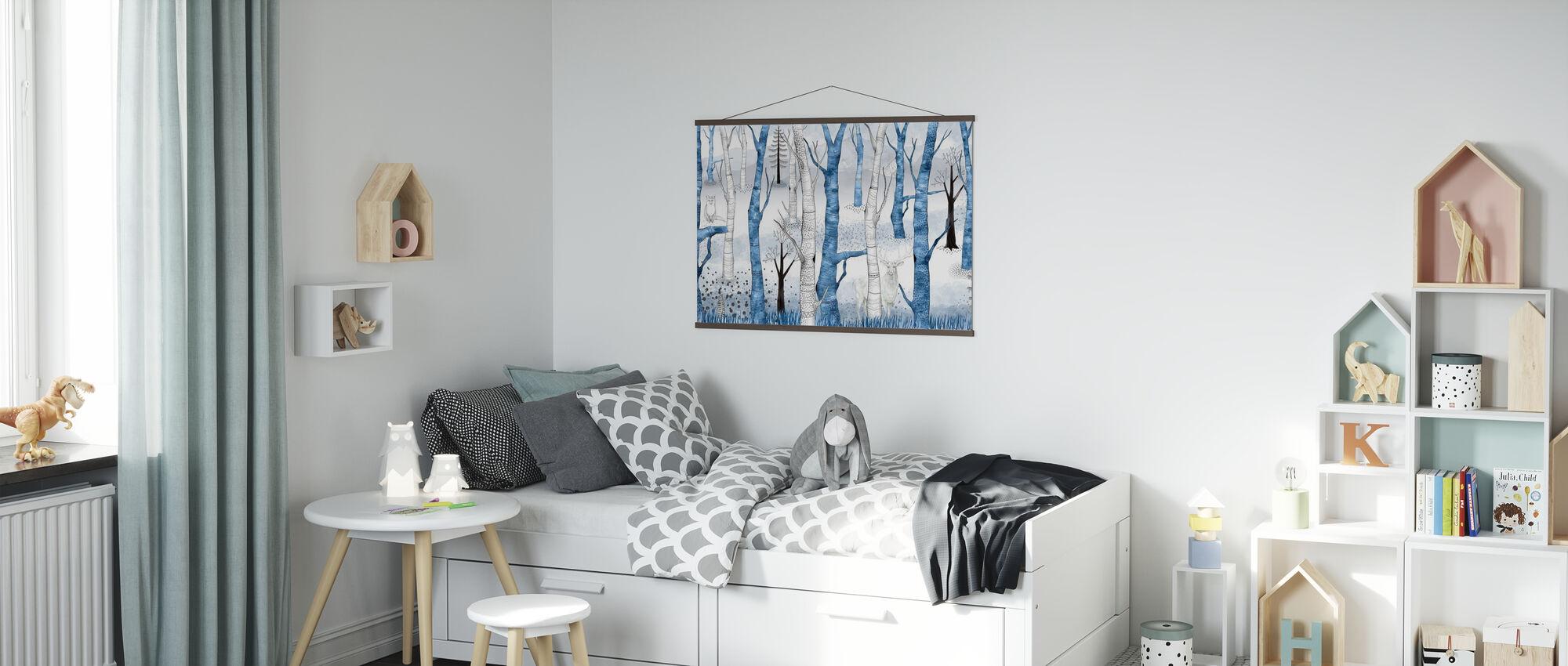 Woodland Walz - Blue - Poster - Kids Room