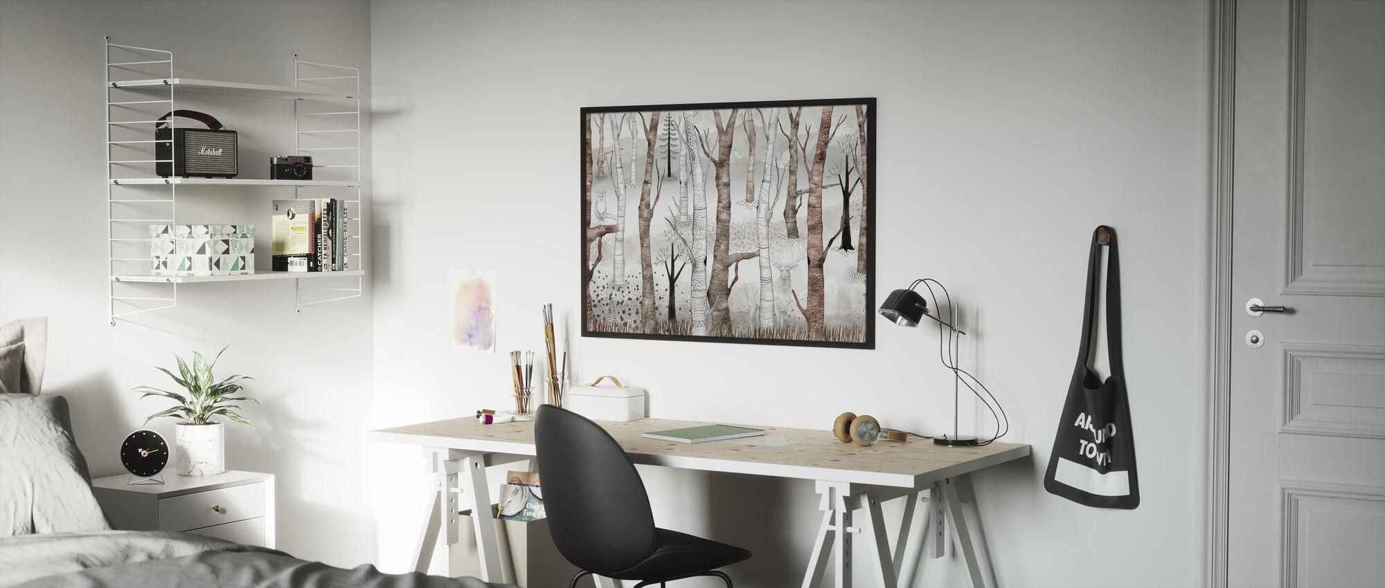 Woodland Walz - Brown - Poster - Kids Room