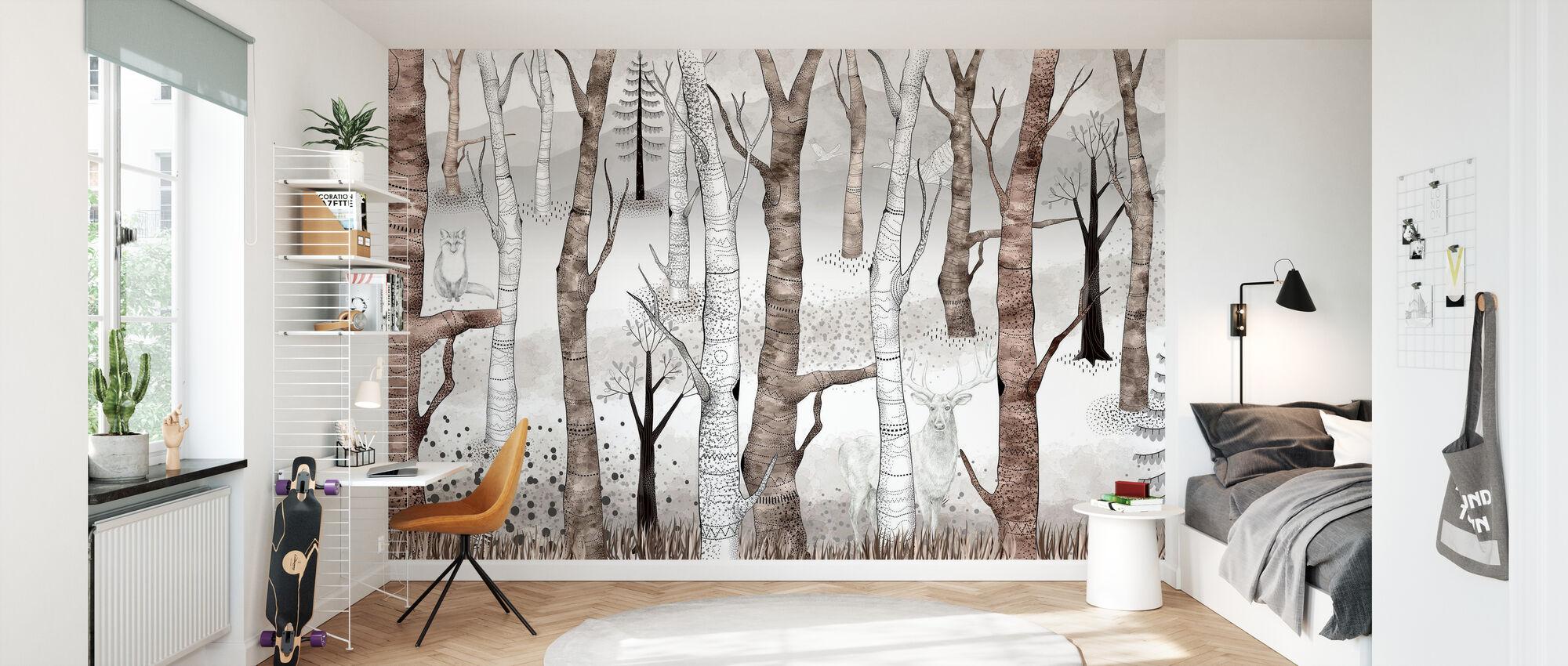 Woodland Walz - Marron - Papier peint - Chambre des enfants