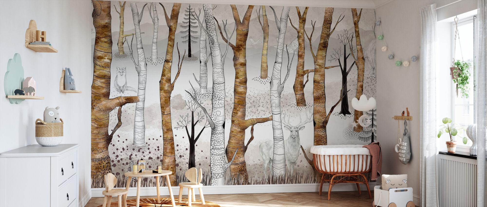 Woodland Walz - Wallpaper - Nursery