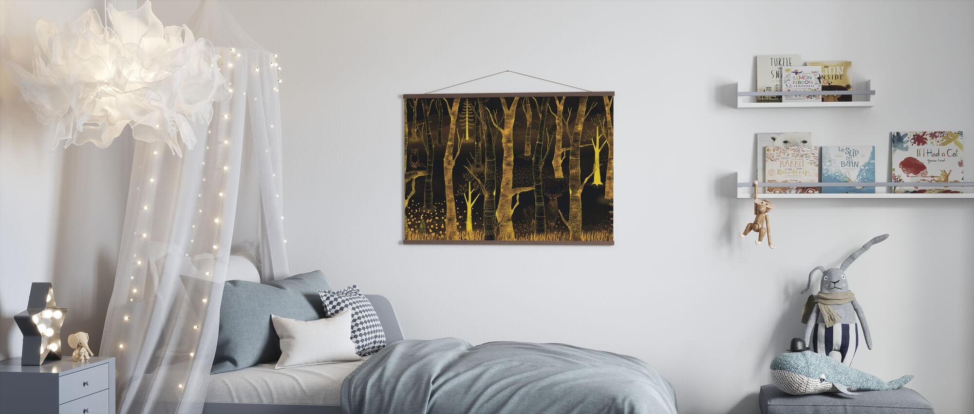 Woodland Walz - Night - Poster - Kids Room