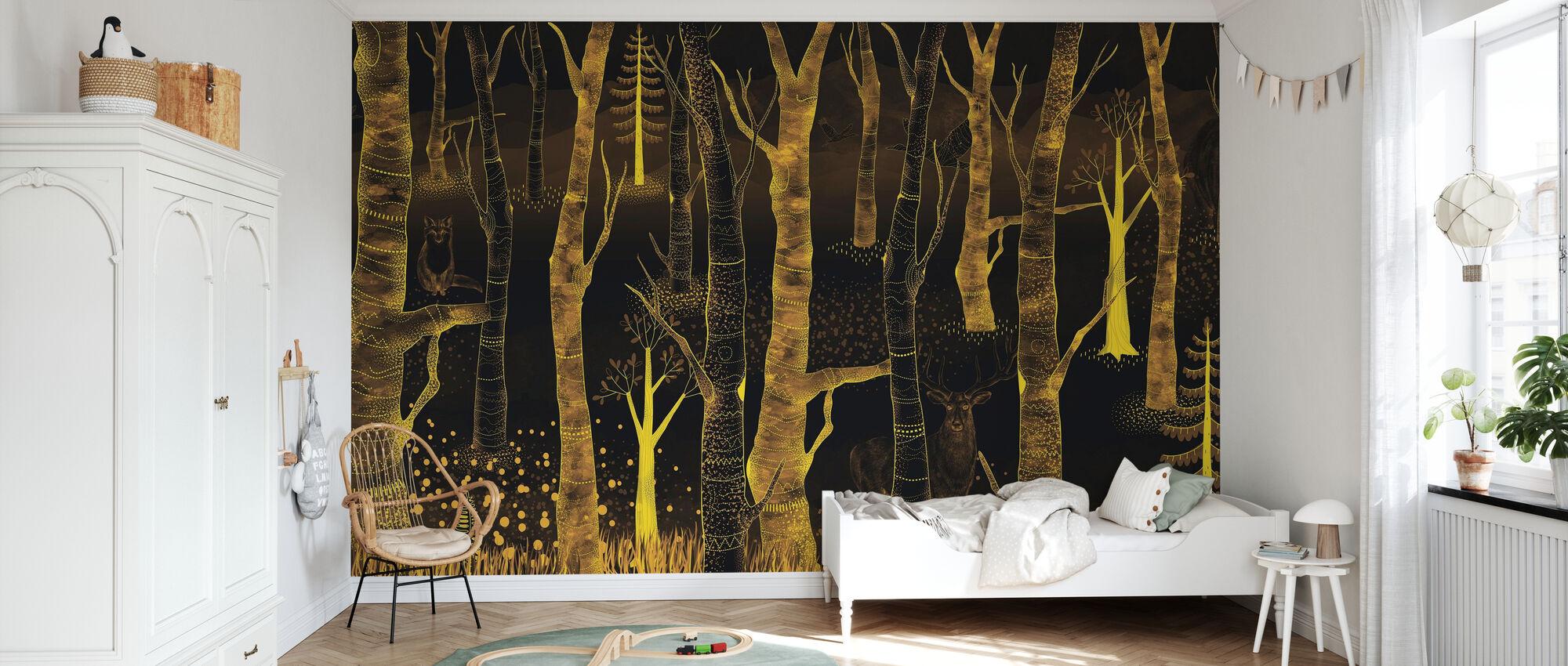 Woodland Walz - Nuit - Papier peint - Chambre des enfants