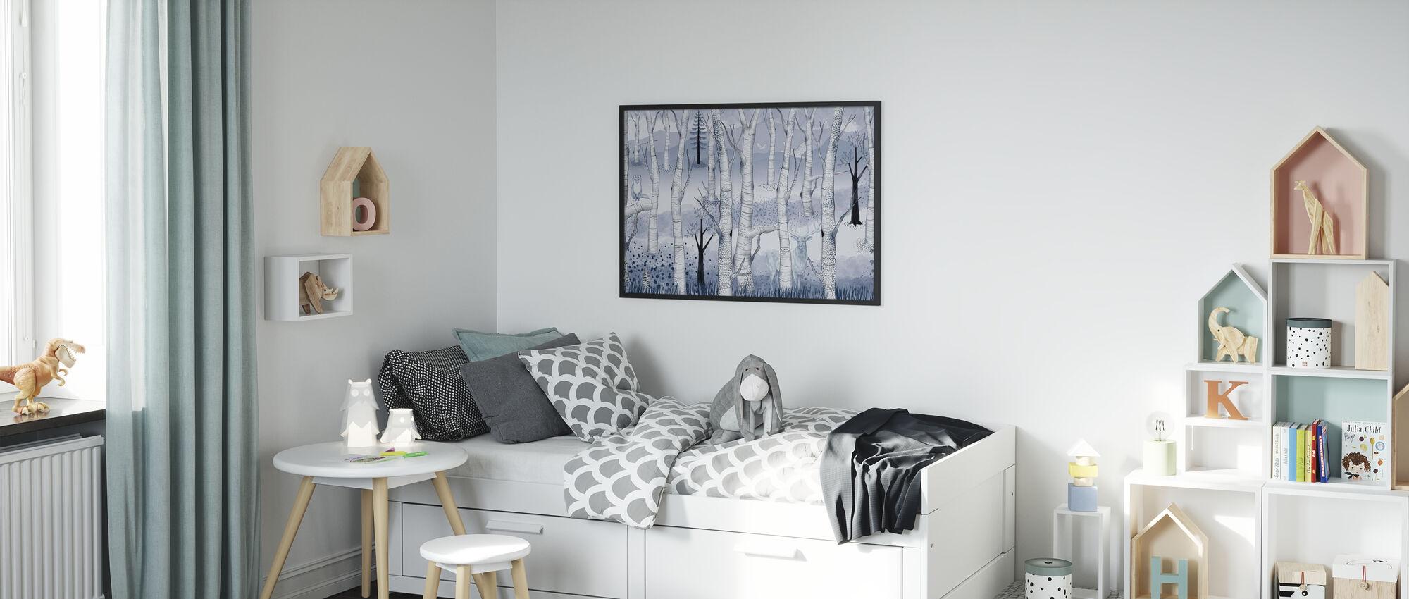 Woodland Walz - Pale Blue - Poster - Kids Room