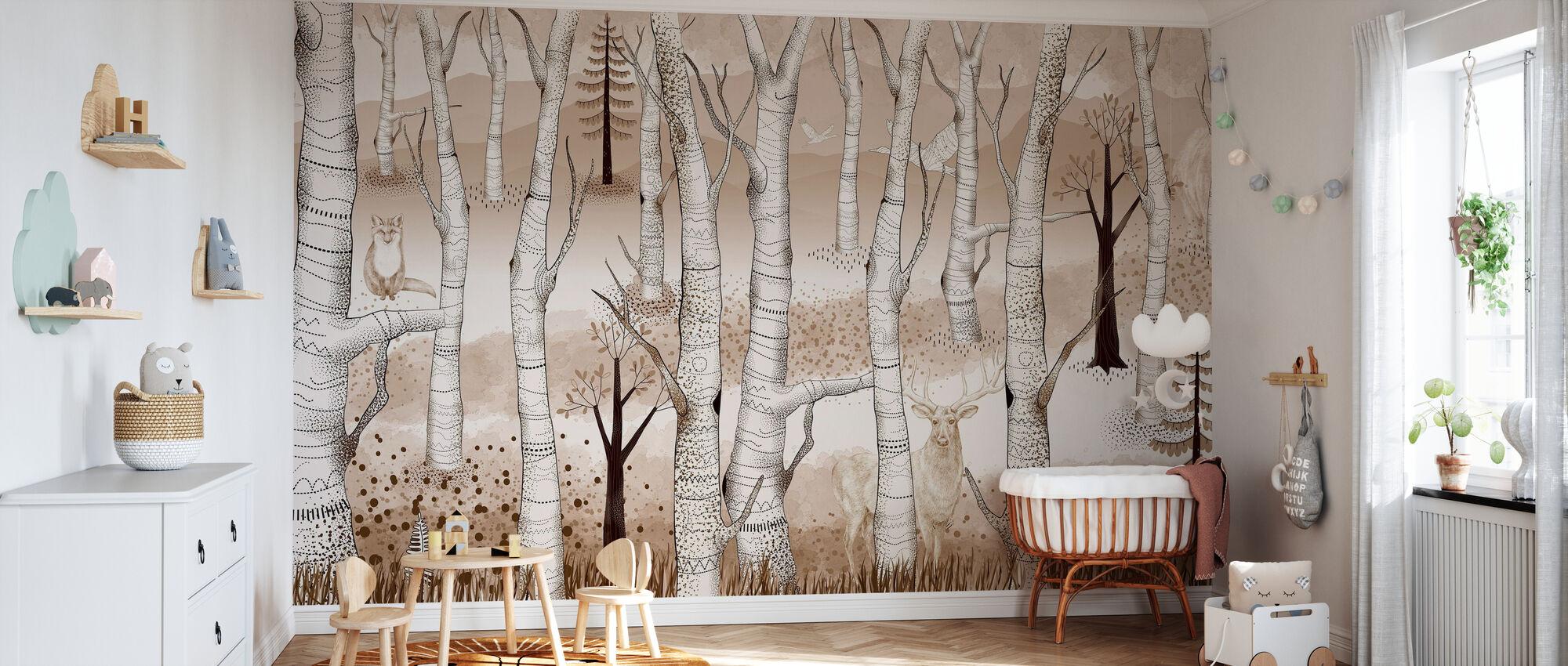 Woodland Walz - Marron pâle - Papier peint - Chambre de bébé