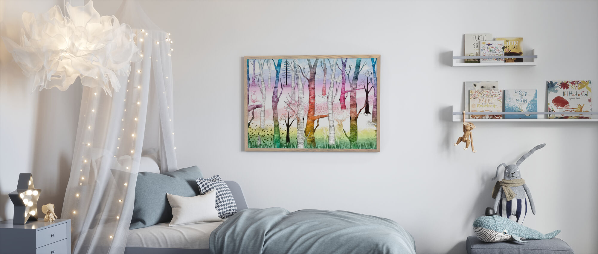 Woodland Walz - Vivid - Poster - Kids Room