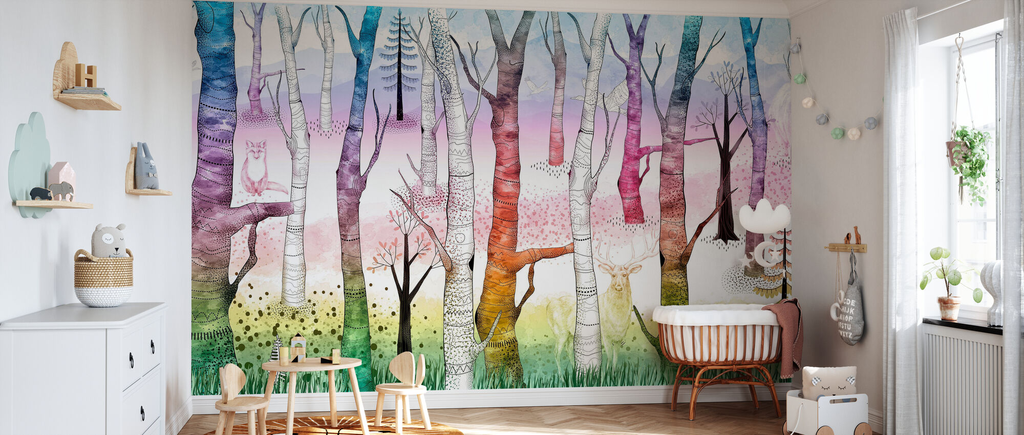 Woodland Walz - Vivid - Wallpaper - Nursery