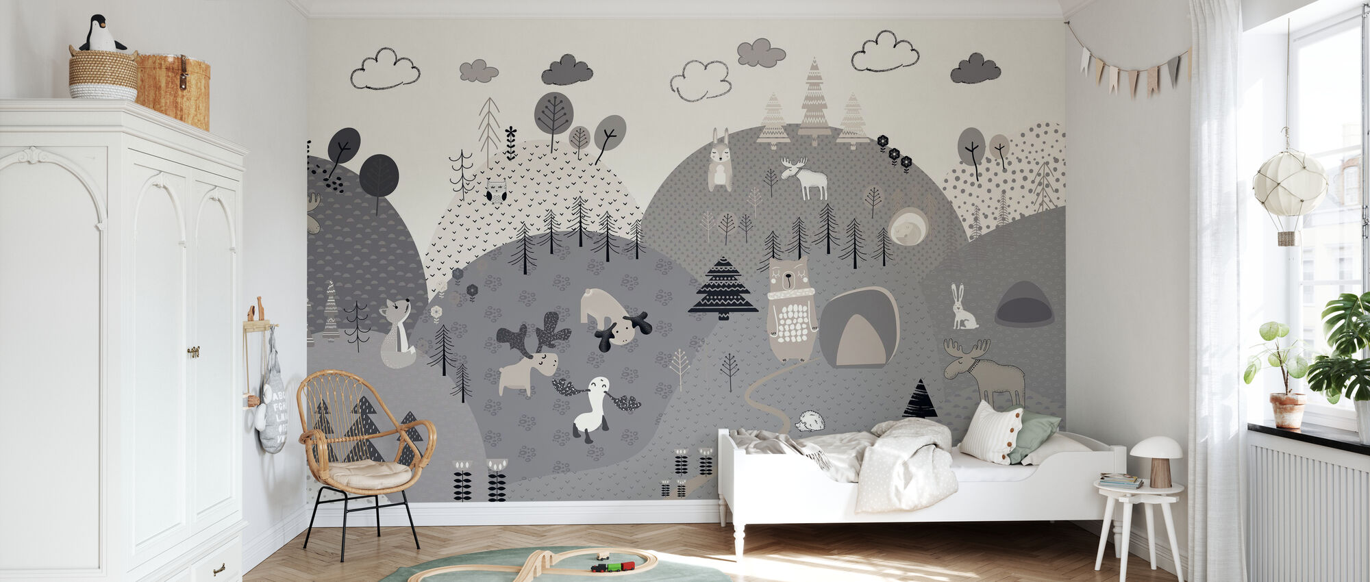 Animal Community - Wallpaper - Kids Room