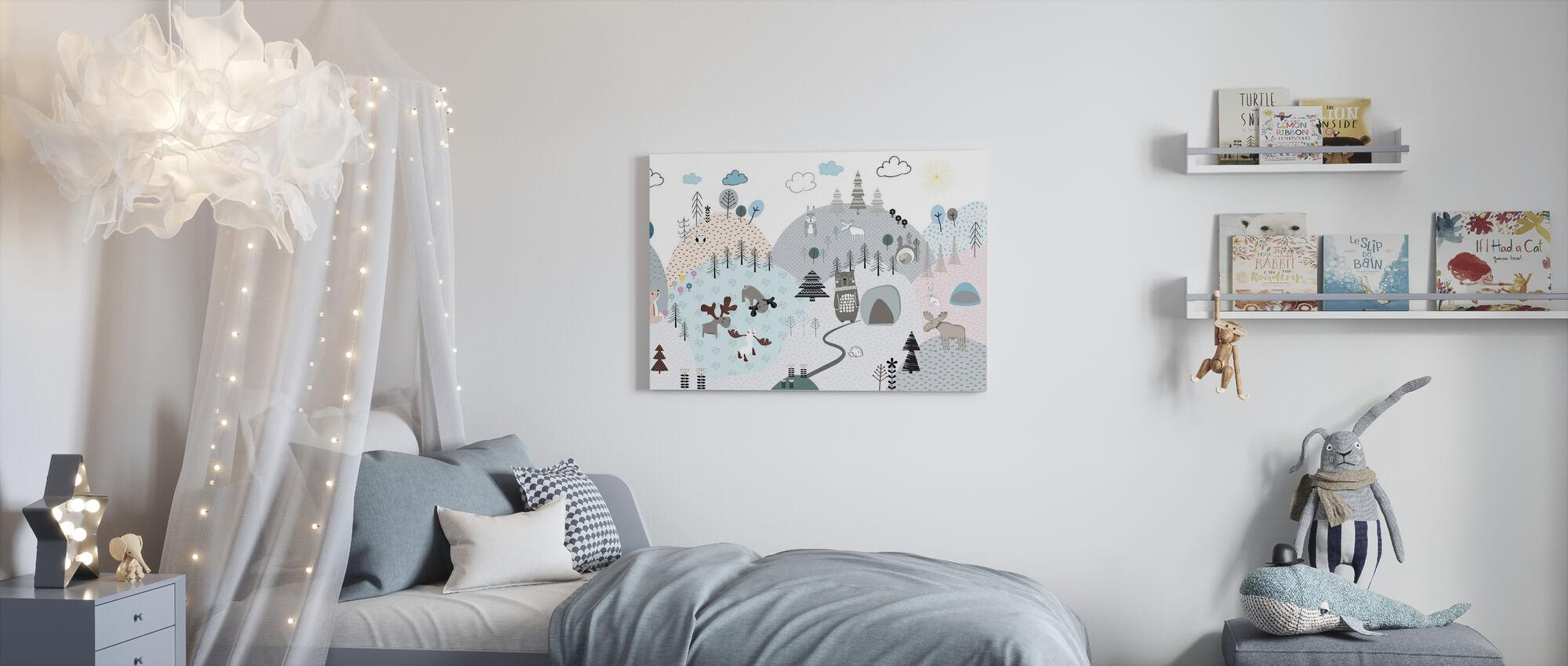 Animal Community II - Canvas print - Kids Room