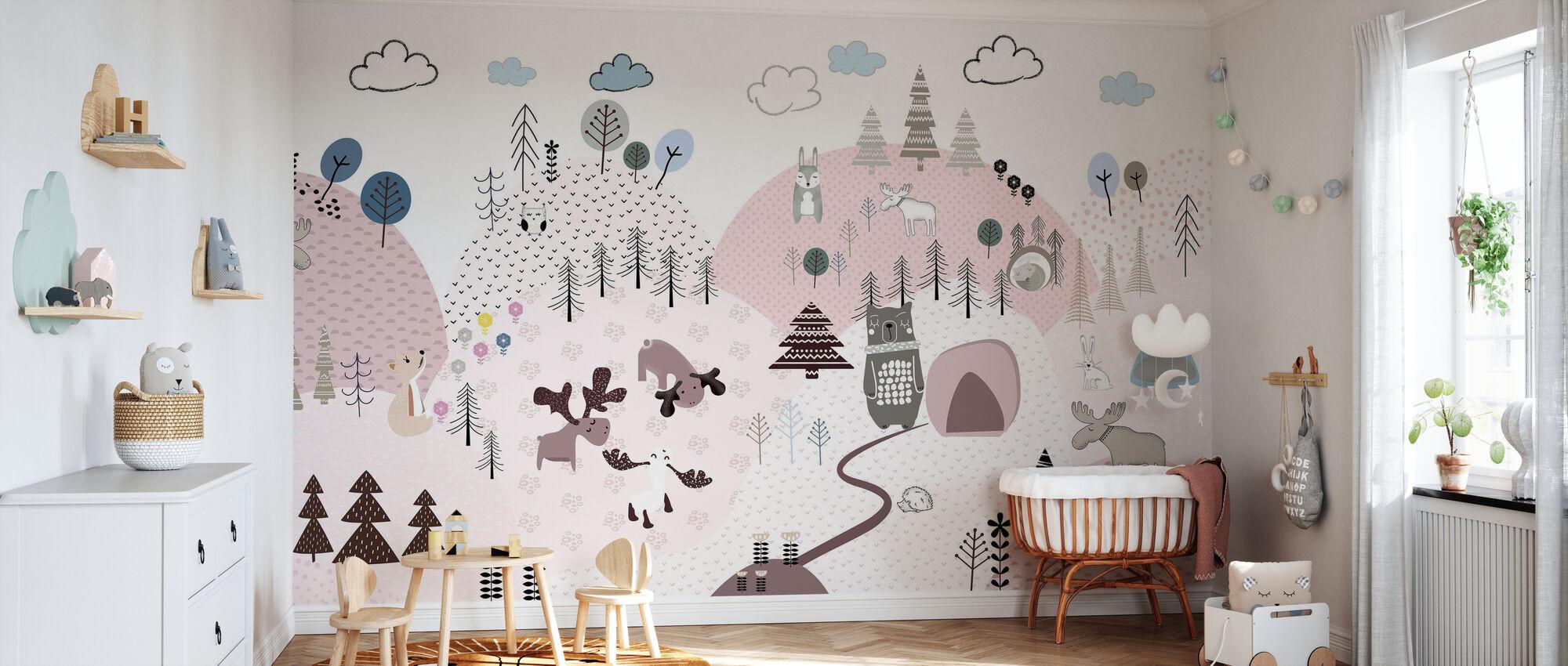 Animal Community III - Wallpaper - Nursery