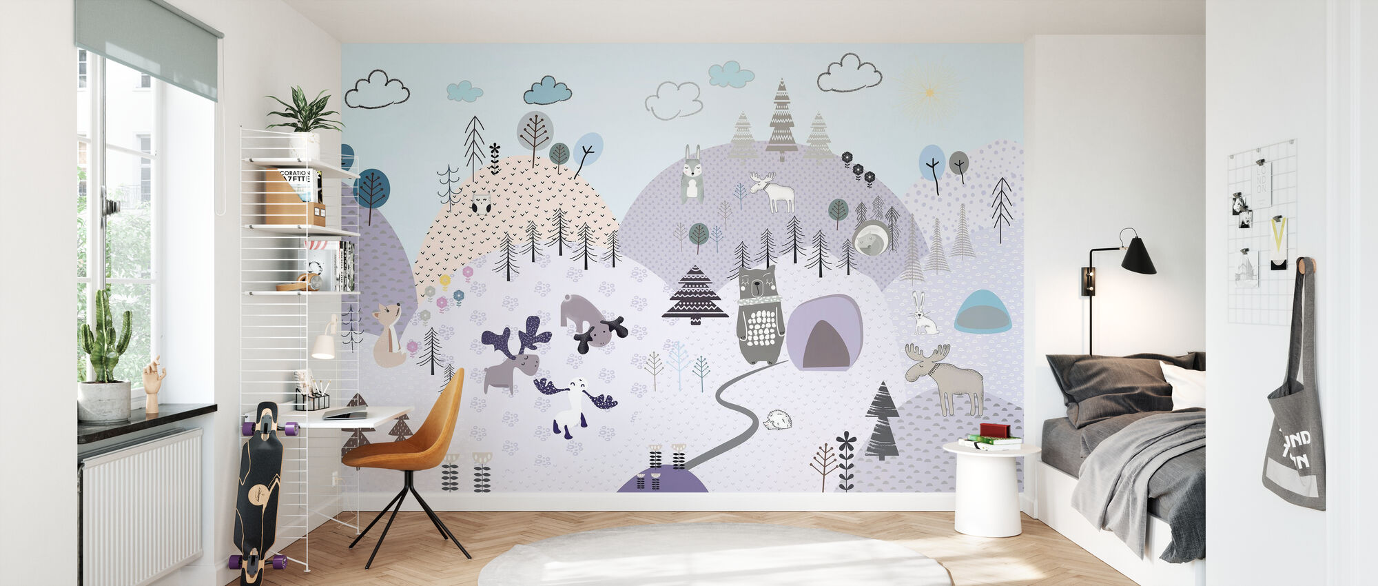 Animal Community VI - Wallpaper - Kids Room