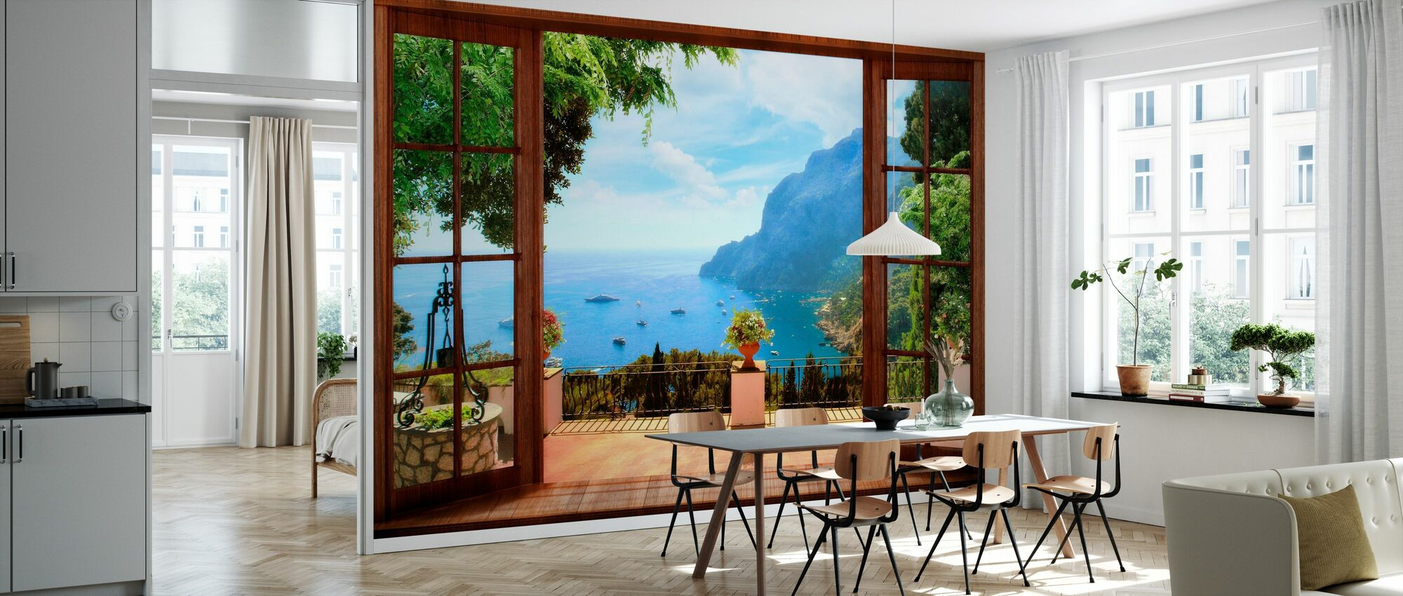 Terrace View - Wallpaper - Kitchen