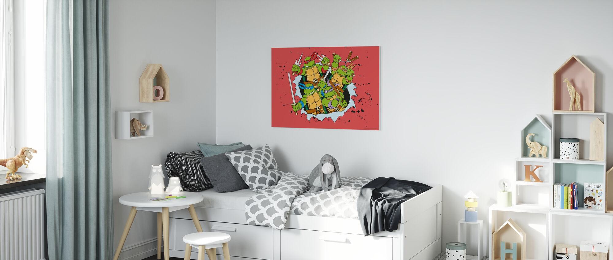Original Ninjas Red - Canvas print - Kids Room