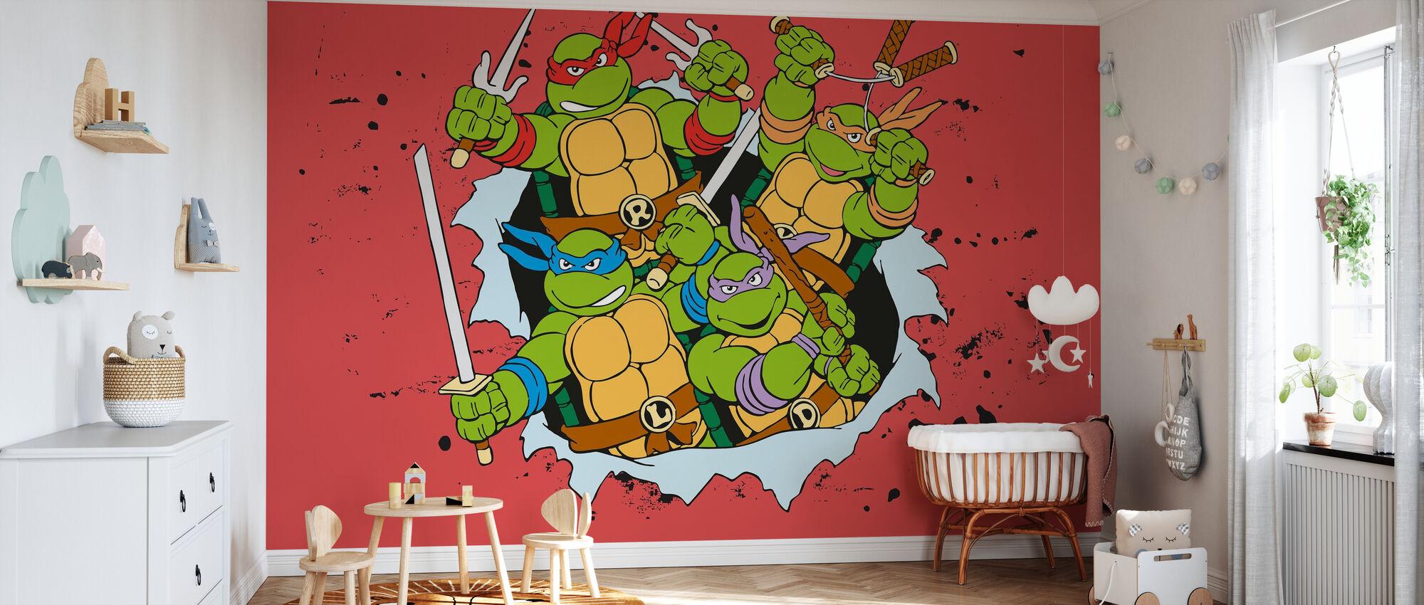Original Ninjas Rojo - Papel pintado - Cuarto del bebé