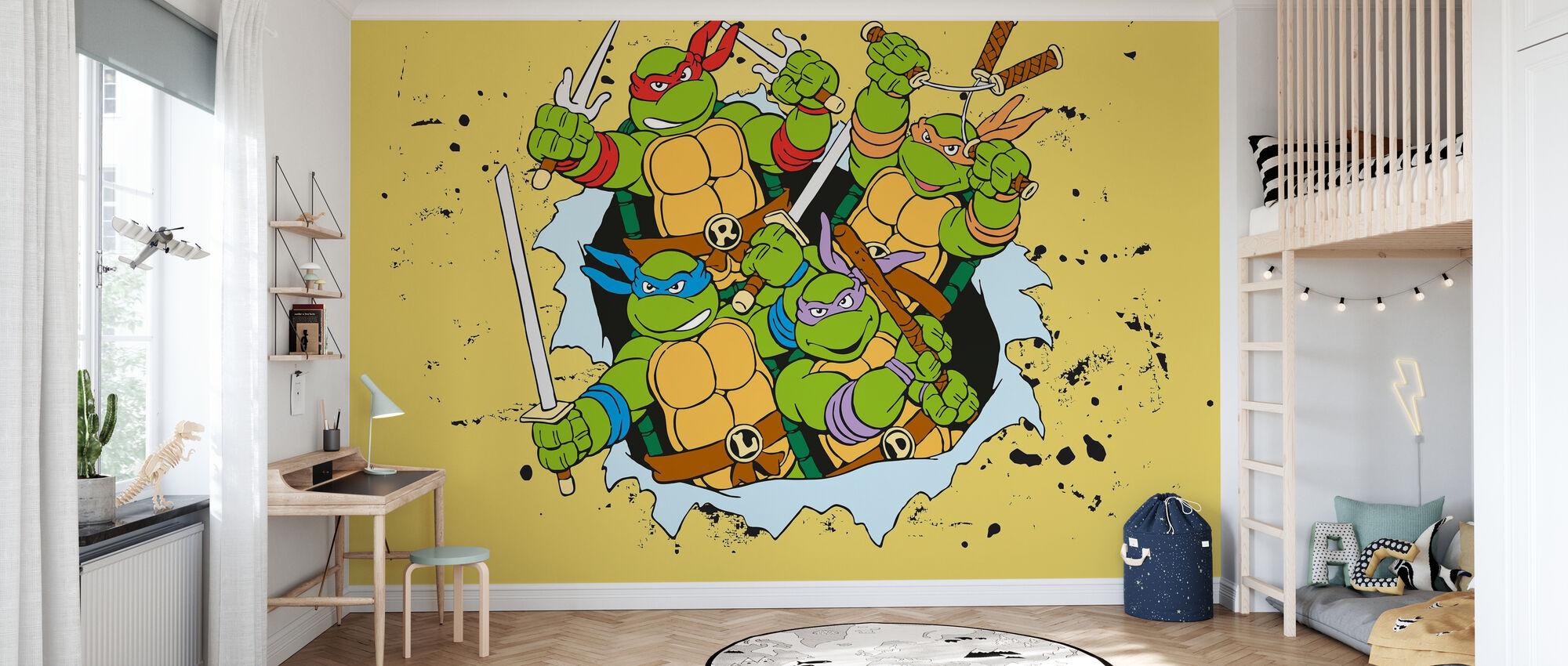 Original Ninjas Yellow - Wallpaper - Kids Room