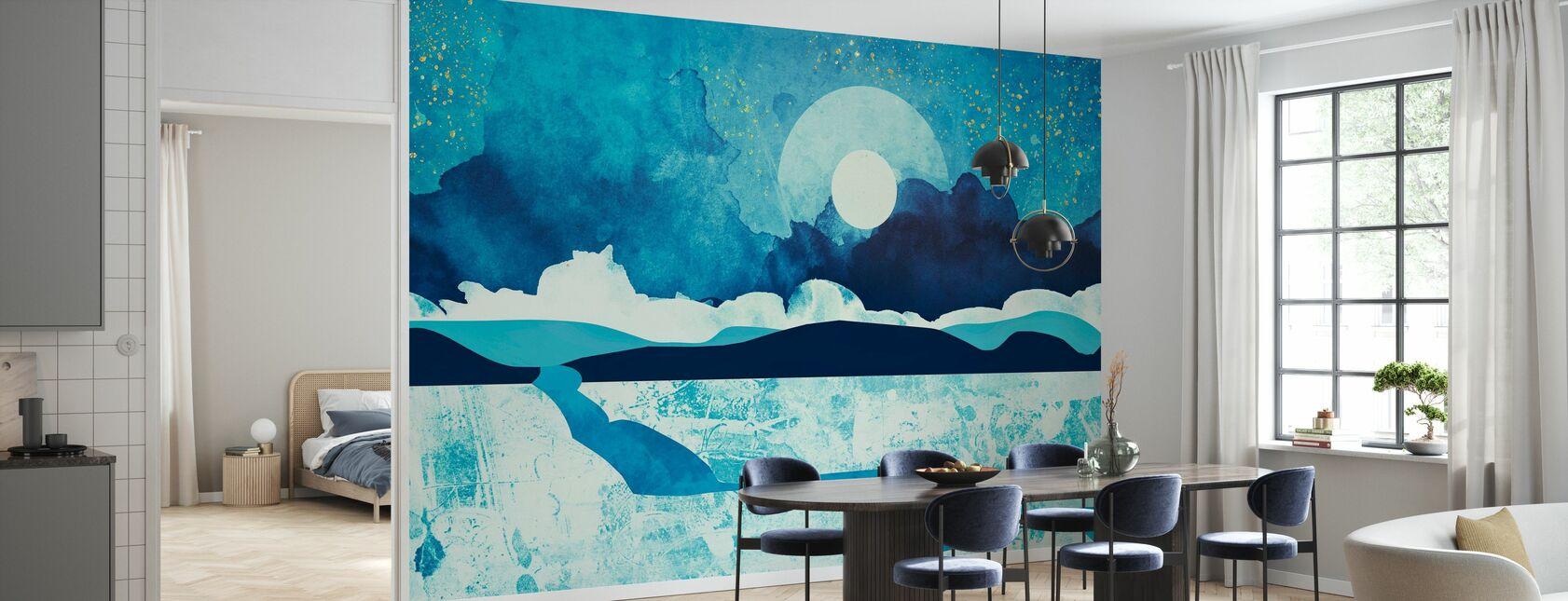 Bleu Désert - SpaceFrogDesigns - Papier peint - Cuisine