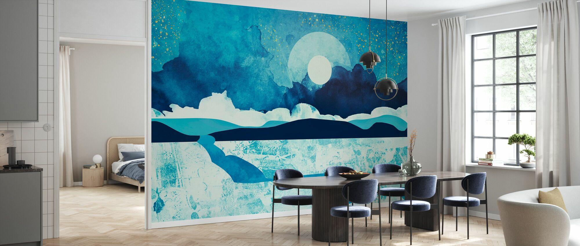 Blauwe Woestijn - SpaceFrogDesigns - Behang - Keuken