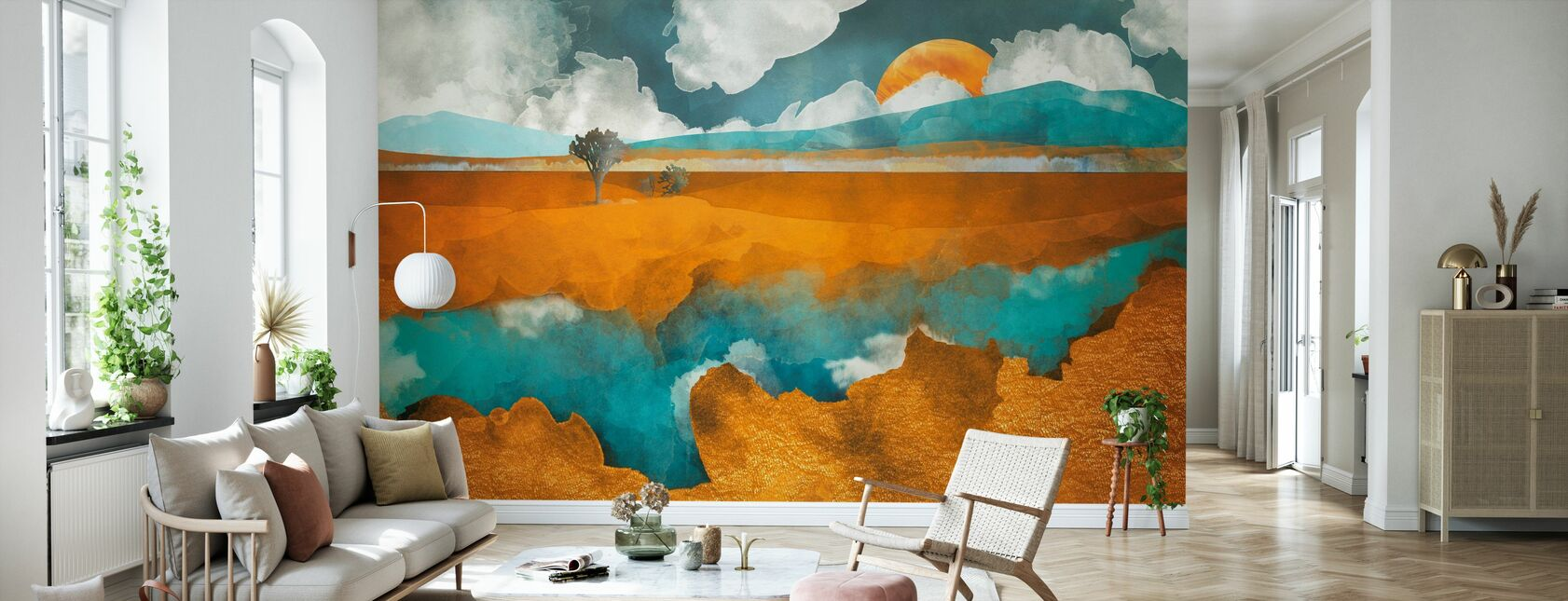 Desert River - SpaceFrogDesigns - Wallpaper - Living Room