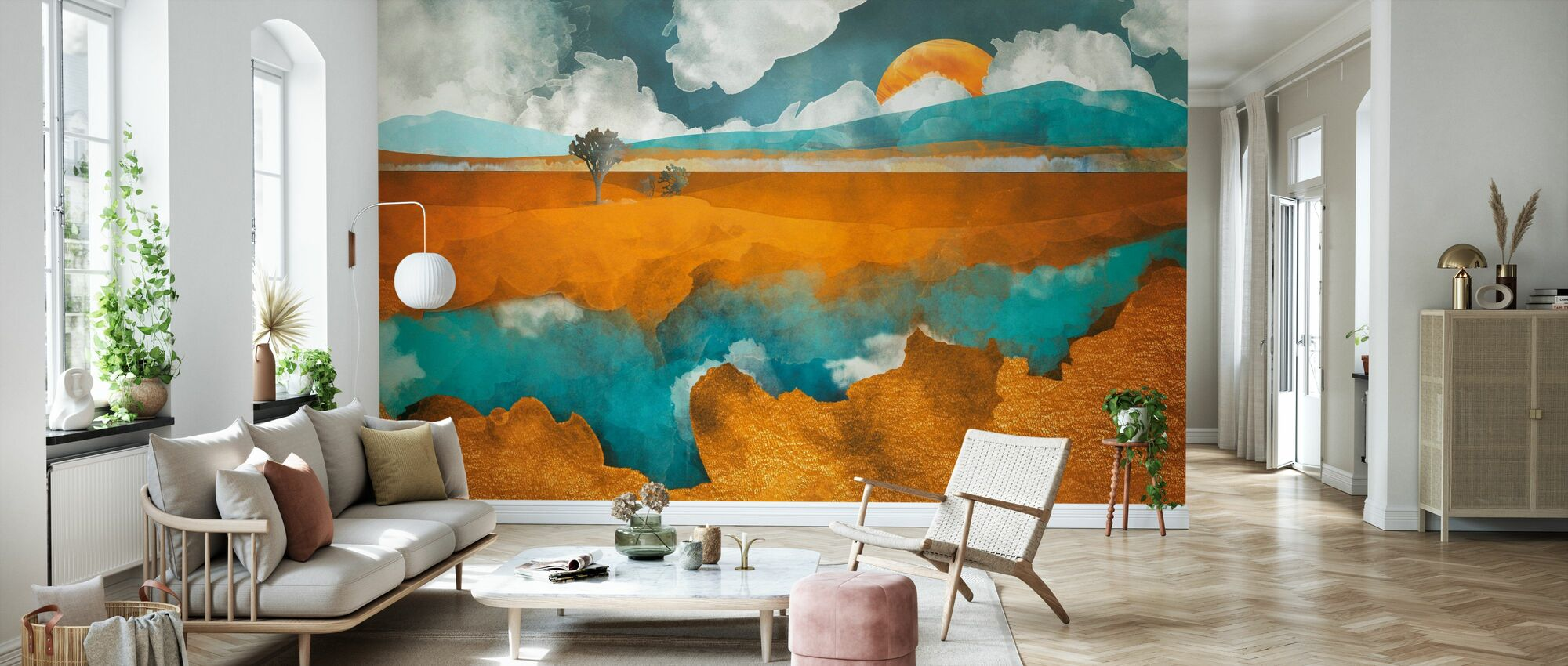 Desert River - SpaceFrogDesigns - Wallpaper - Living Room