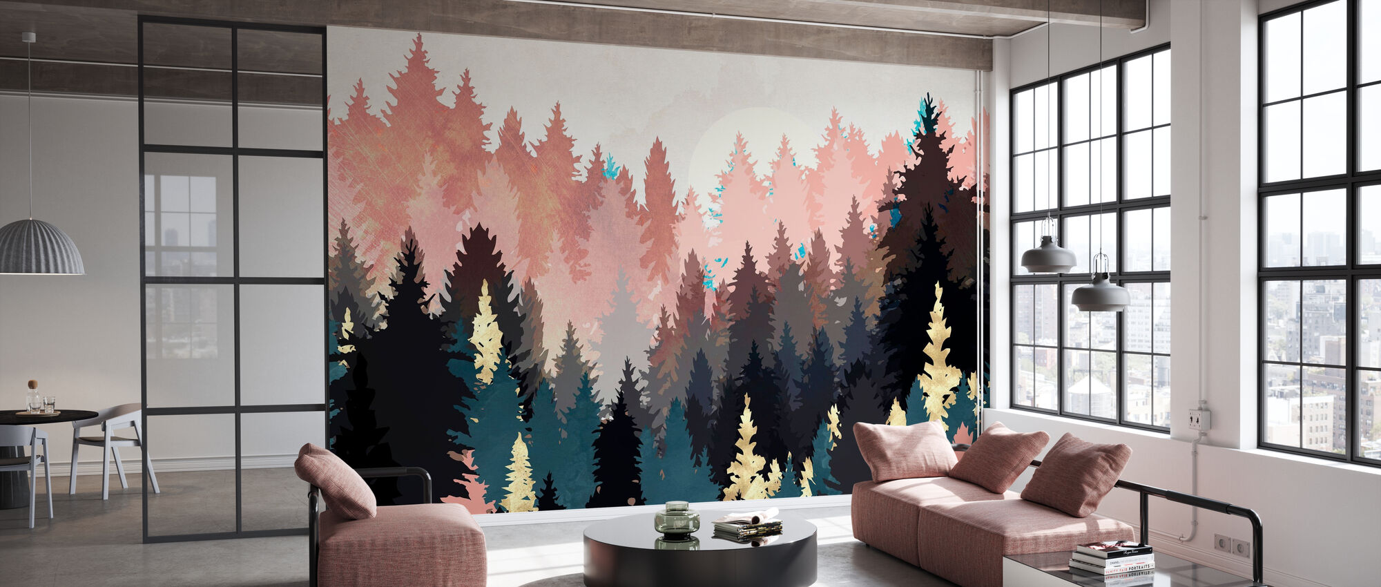 Spring Forest Light - SpaceFrogDesigns - Wallpaper - Office