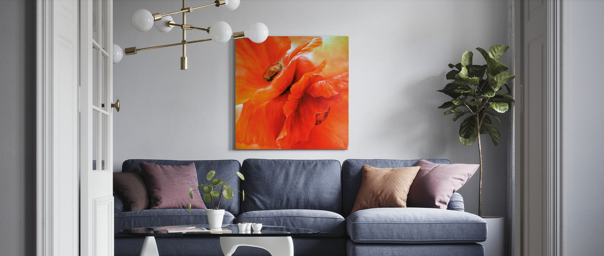 Red Poppy - Canvas print - Living Room