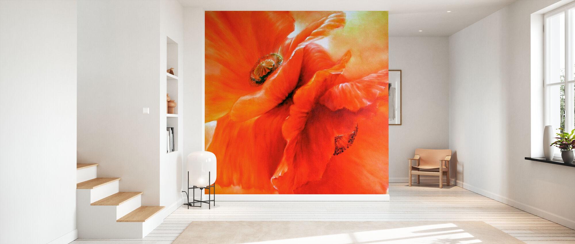 Red Poppy - Wallpaper - Hallway