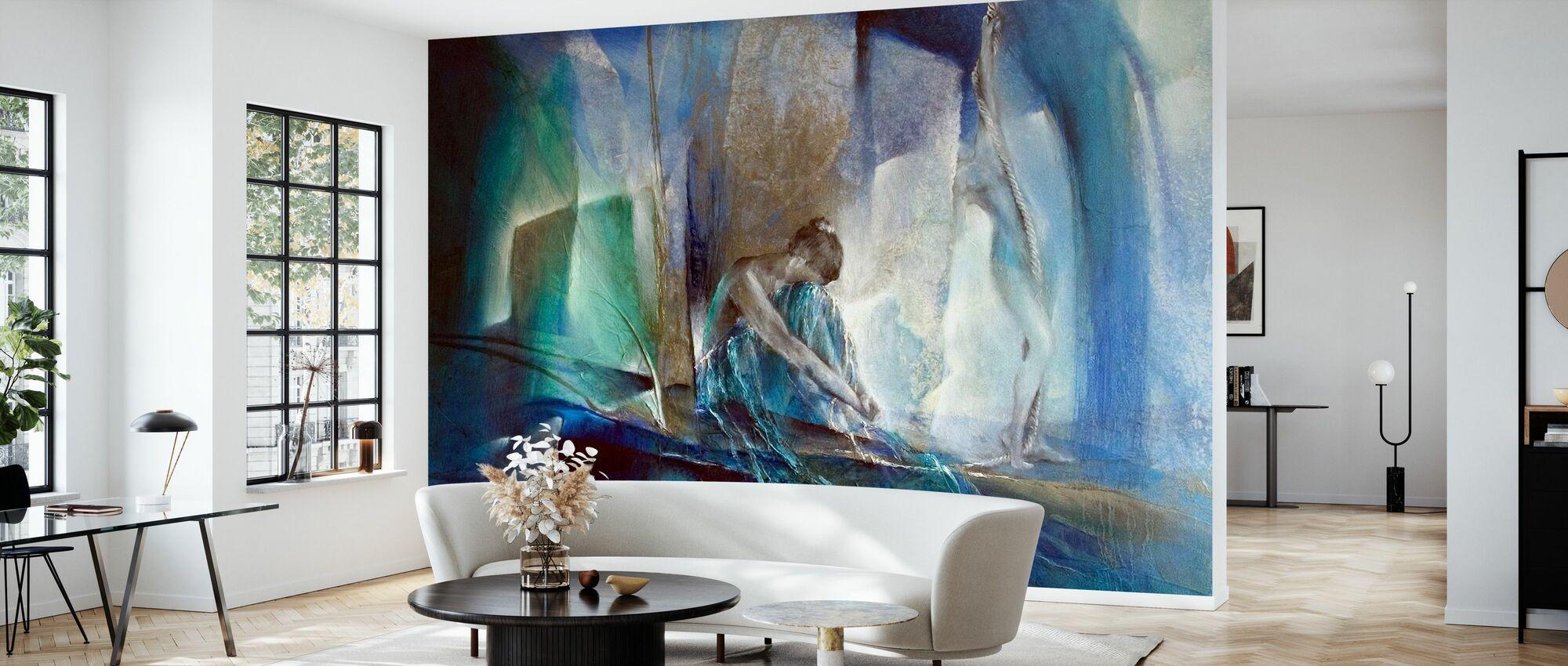 Blue Room - Wallpaper - Living Room