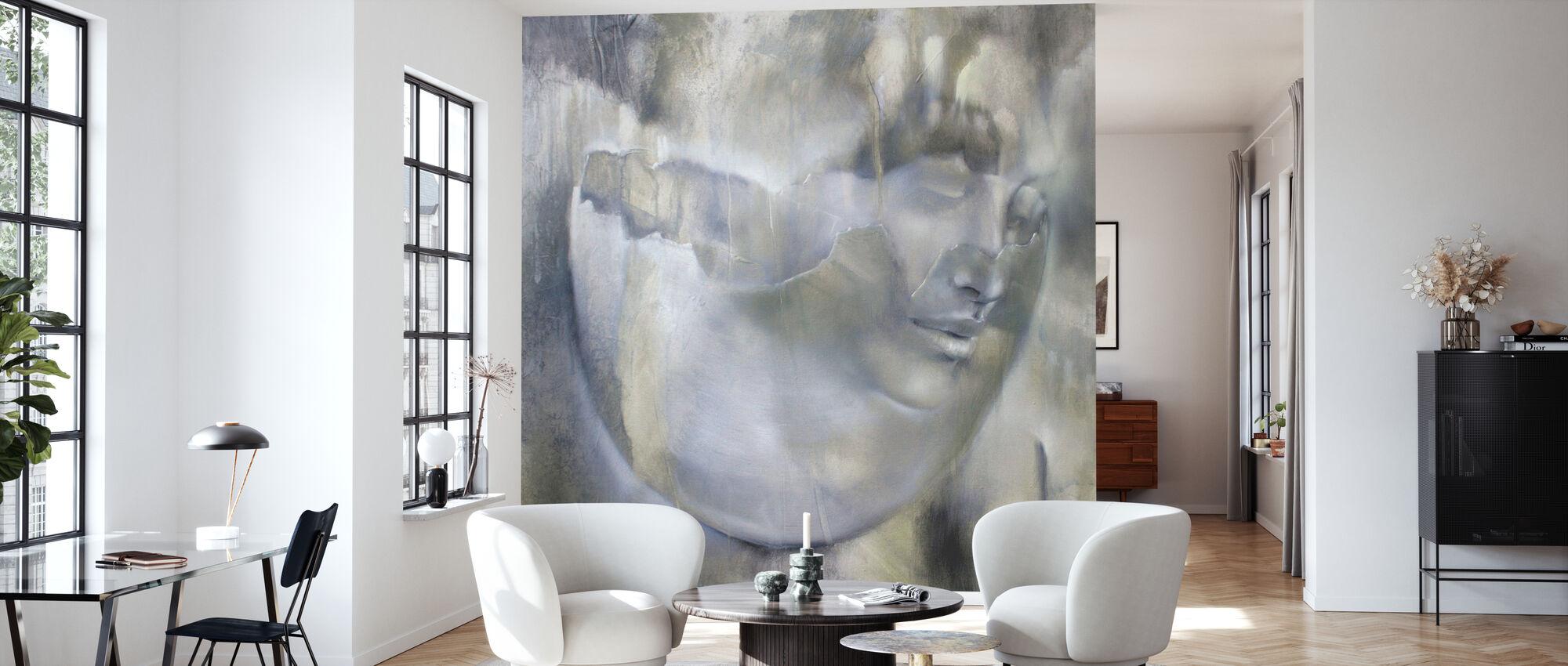 Portrait and Eggshell - Wallpaper - Living Room