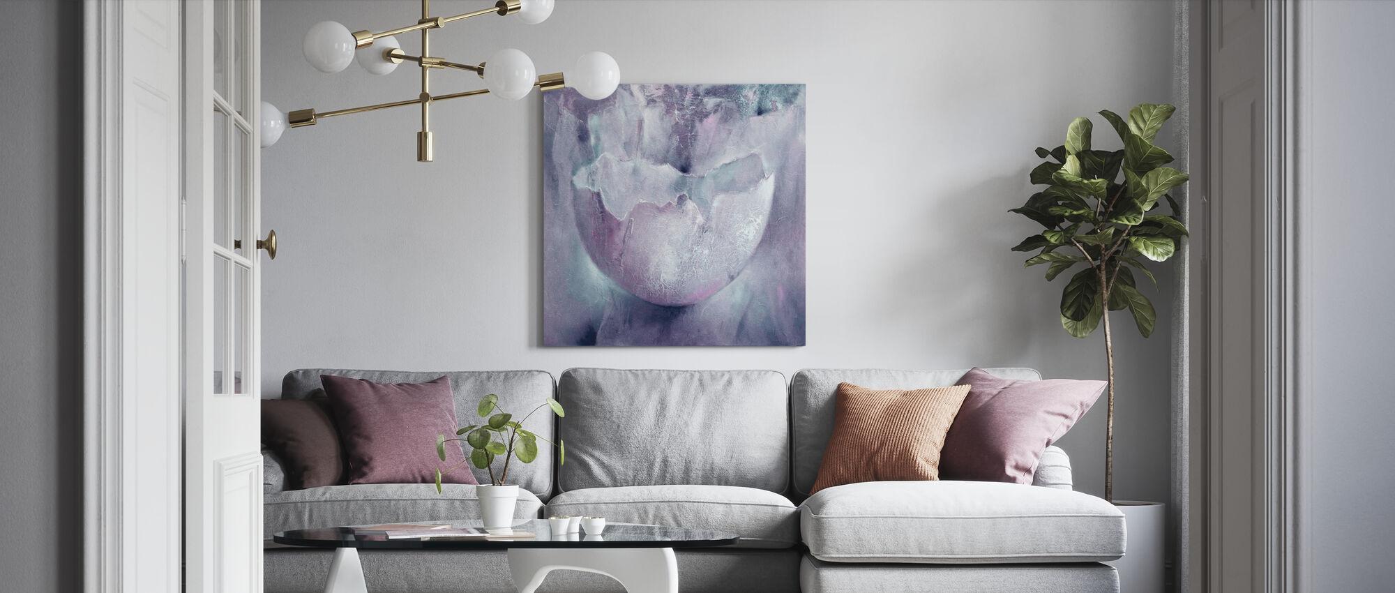 Eggshell - Canvas print - Living Room