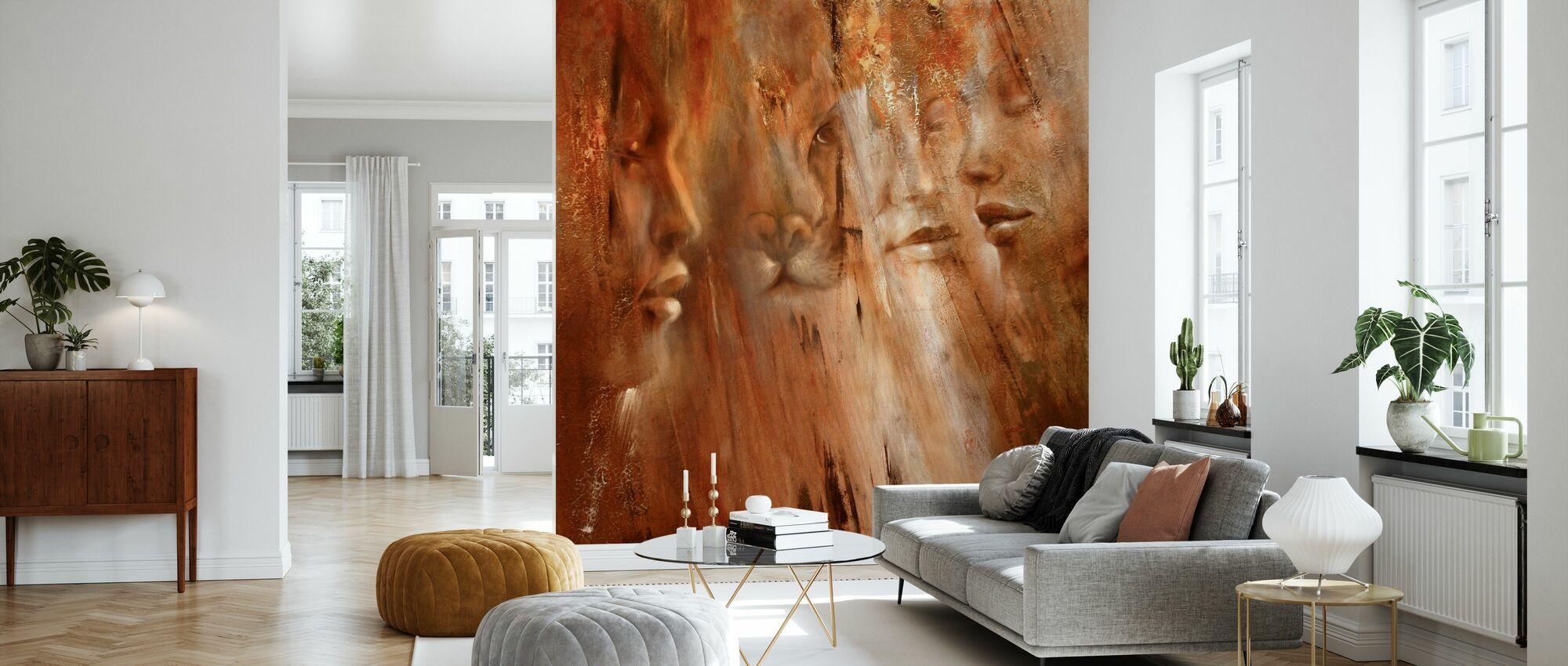 Faces II - Wallpaper - Living Room