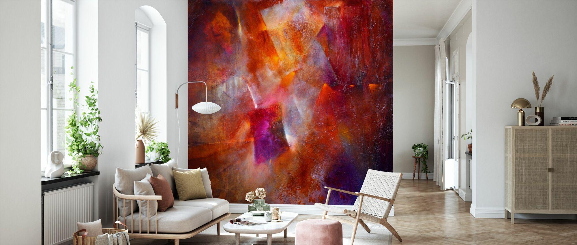 Fireplace Fire - Wallpaper - Living Room