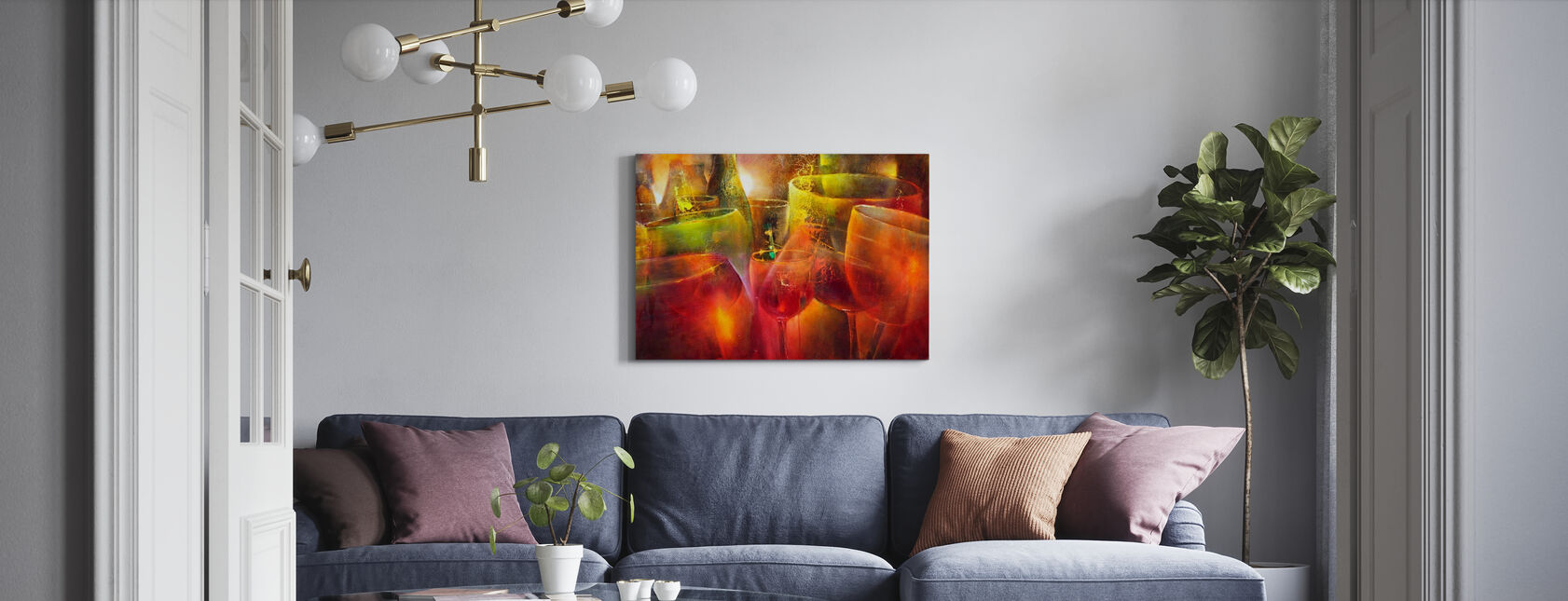 Late Hour - Canvas print - Living Room