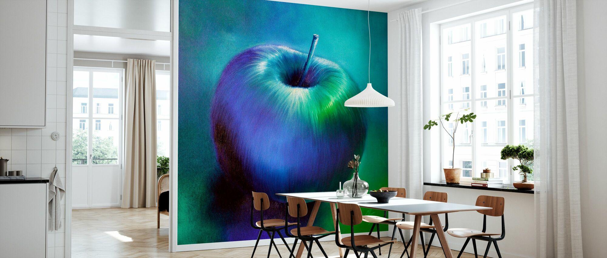 Apple Blue - Wallpaper - Kitchen