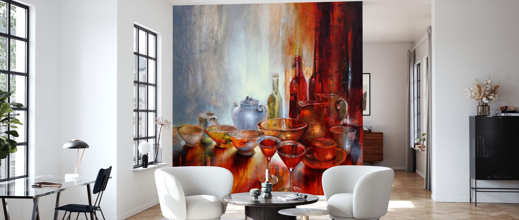 Still Life with Gray Teapot - Wallpaper - Living Room