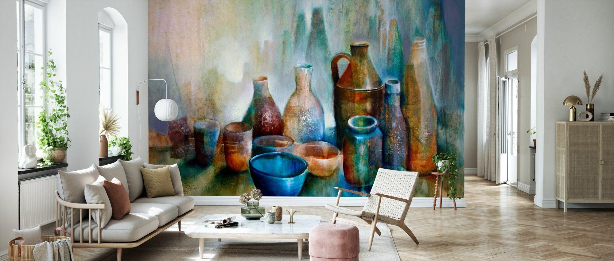 Still Life with Blue Bowl - Wallpaper - Living Room
