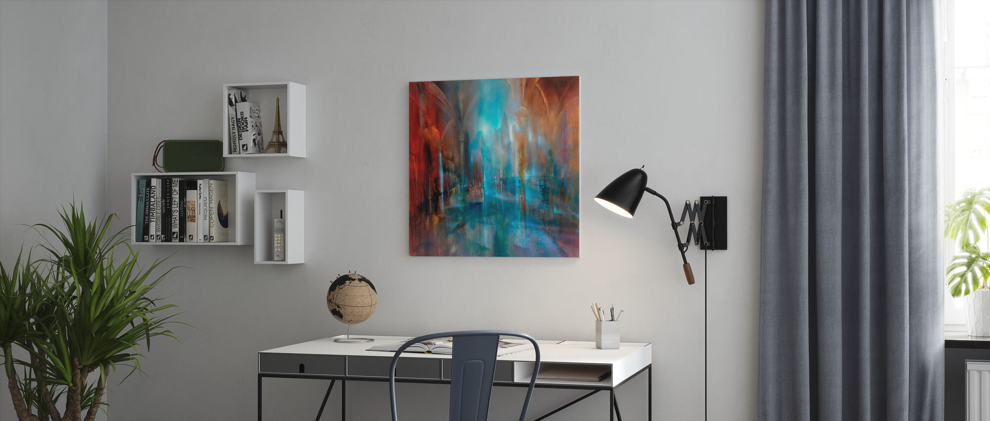 Inside and Outside - Canvas print - Office