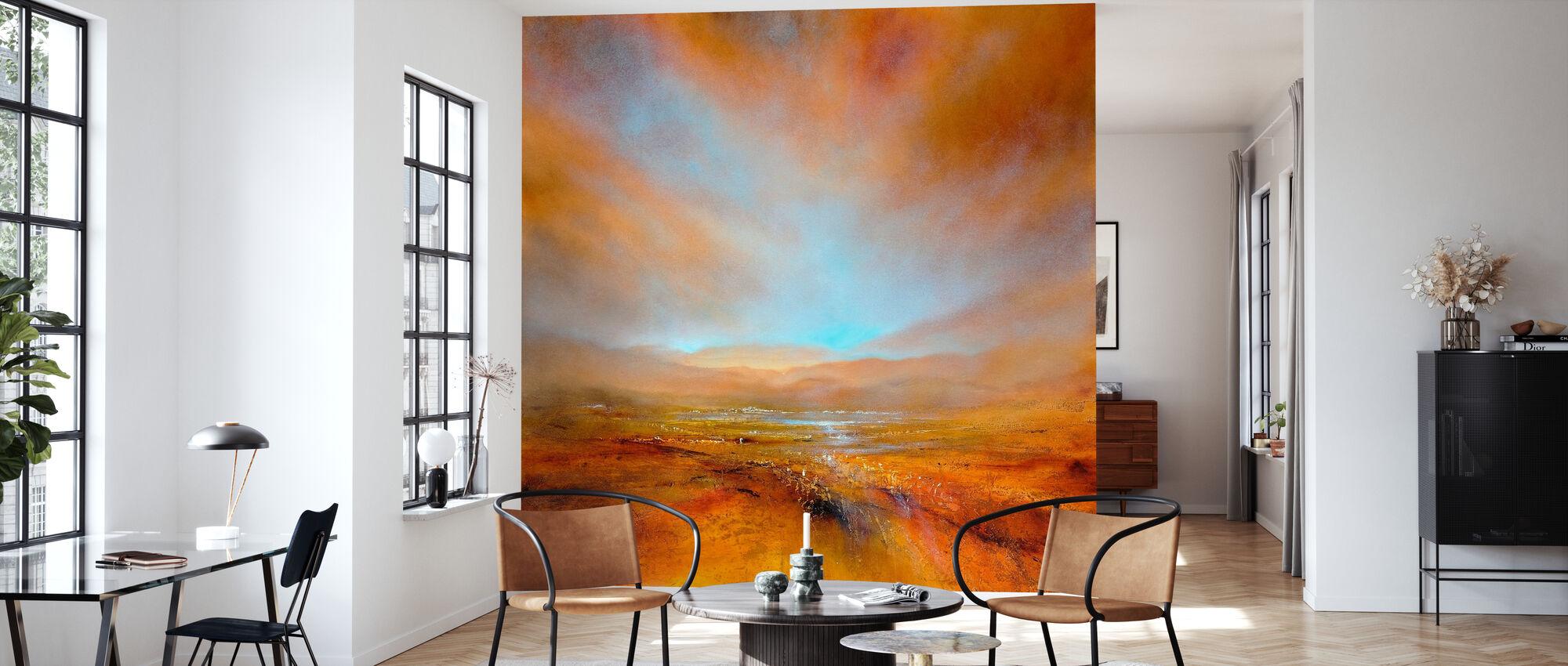 Herbstlicht - Tapete - Wohnzimmer
