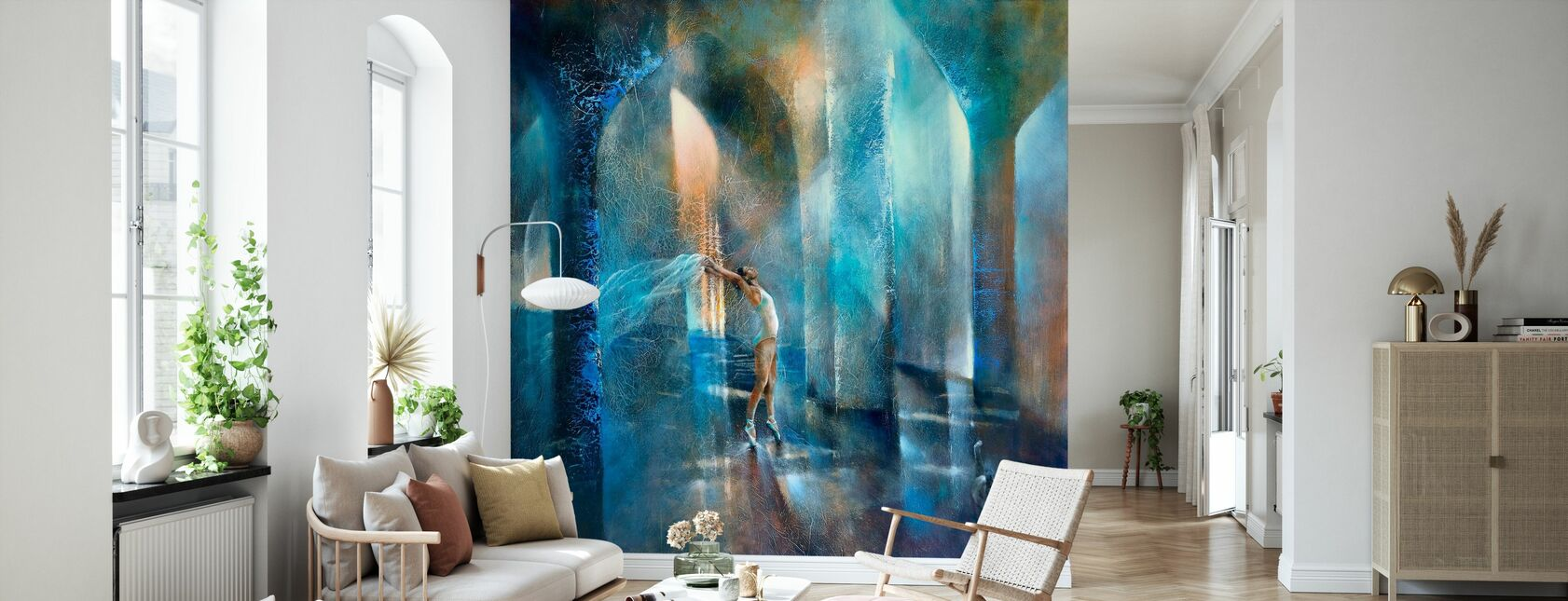 Cat and Dancer - Wallpaper - Living Room