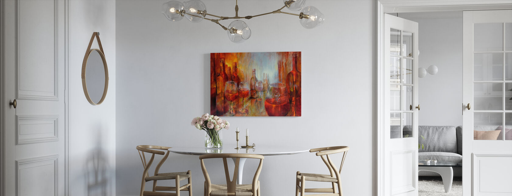 Later Burgundy - Canvas print - Kitchen