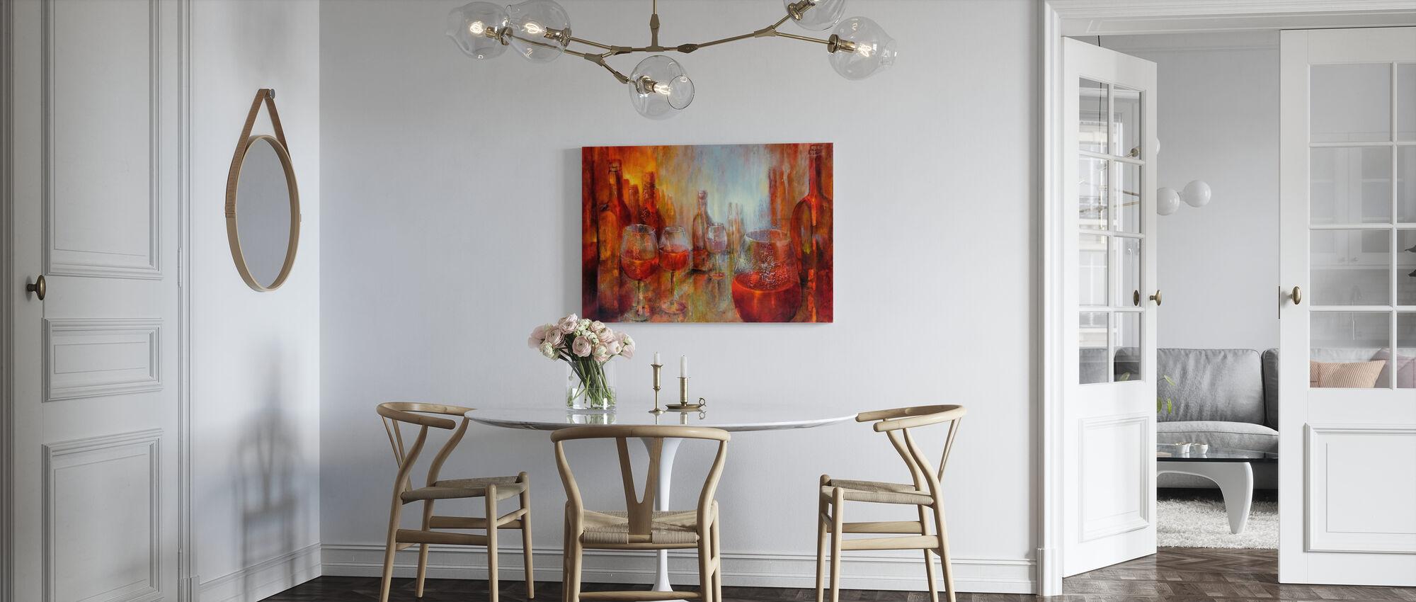 Later Burgundy - Canvas print - Kitchen