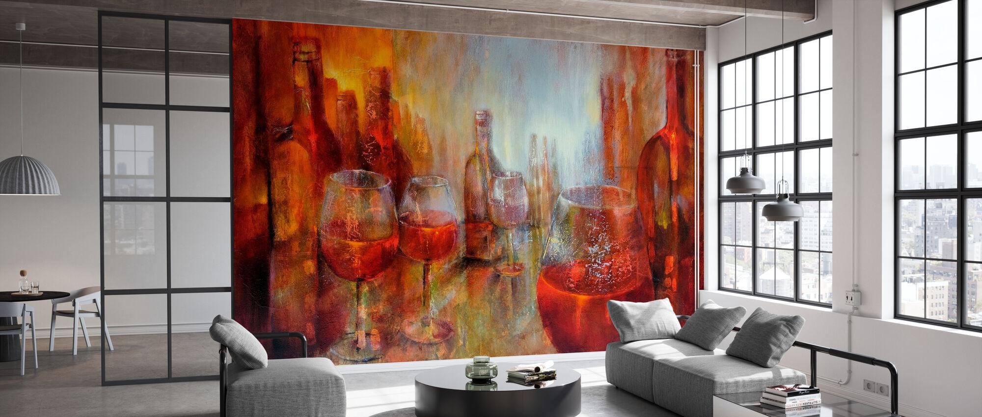 Later Burgundy - Wallpaper - Office