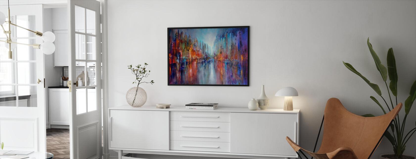 City on the River - Framed print - Living Room