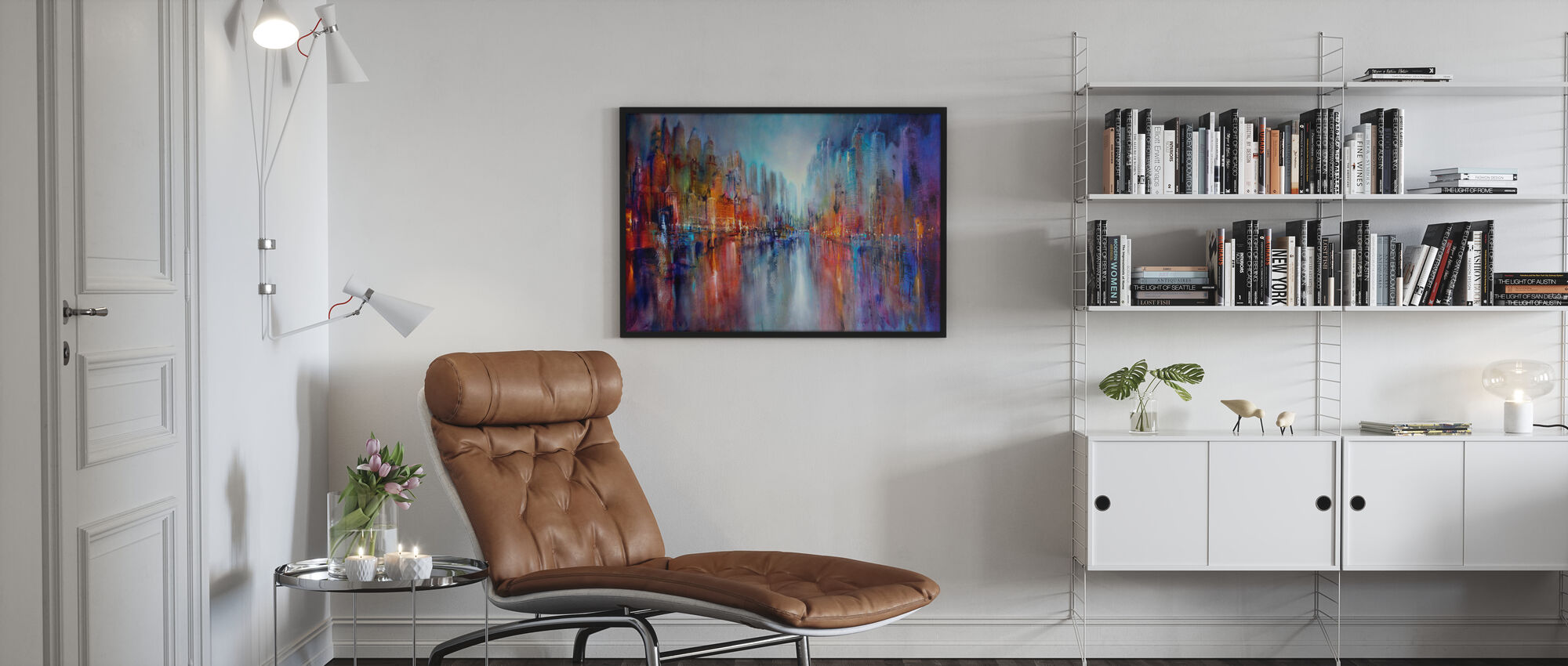 City on the River - Framed print - Living Room