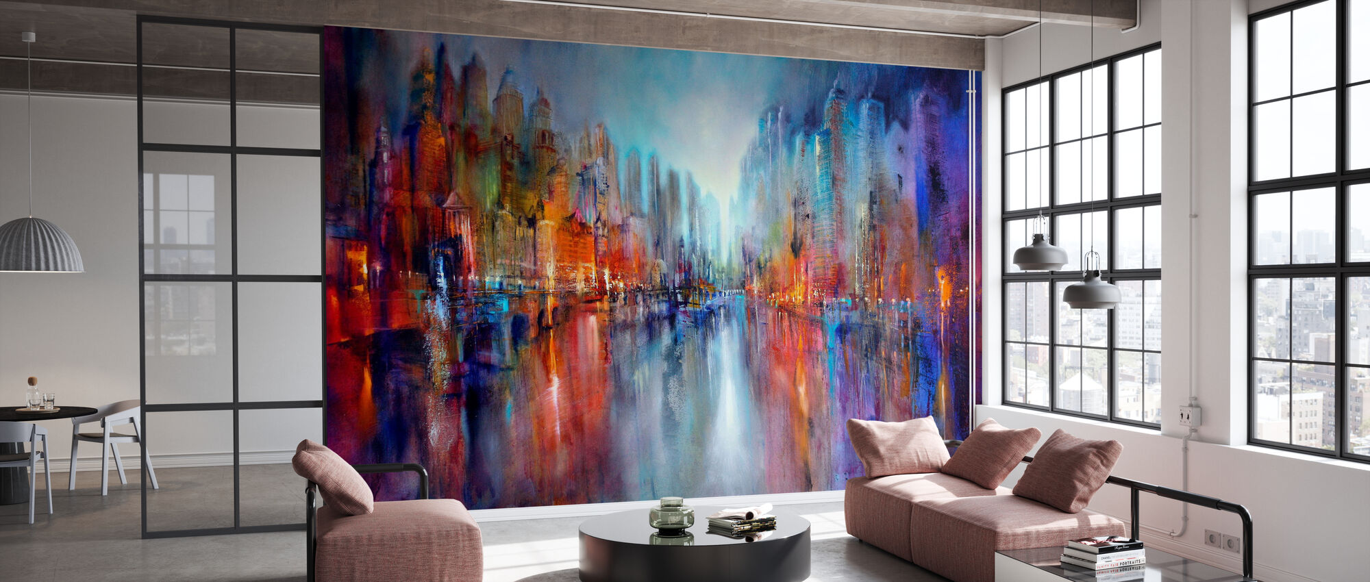 City on the River - Wallpaper - Office