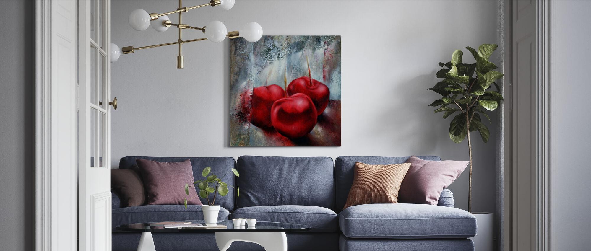 Cherries - Canvas print - Living Room