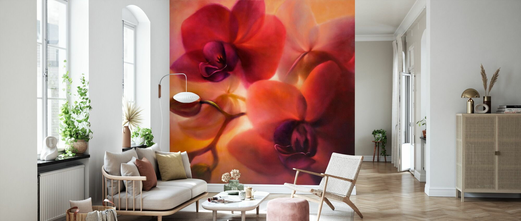 Orchids - Wallpaper - Living Room