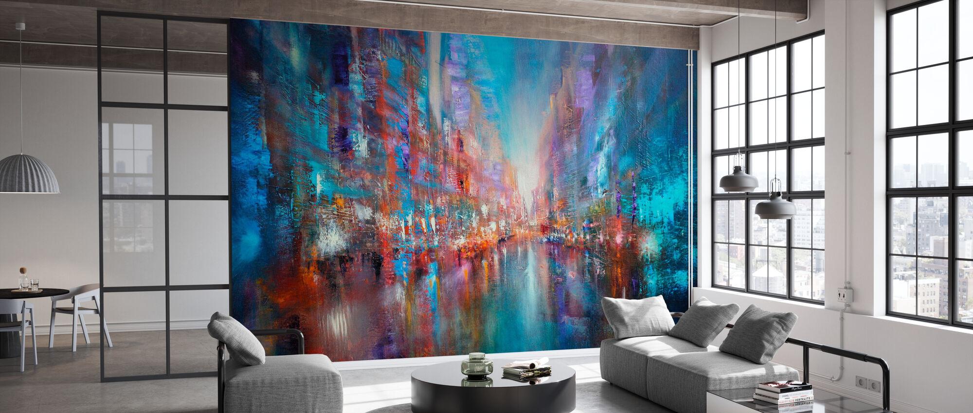 Blue City - Wallpaper - Office