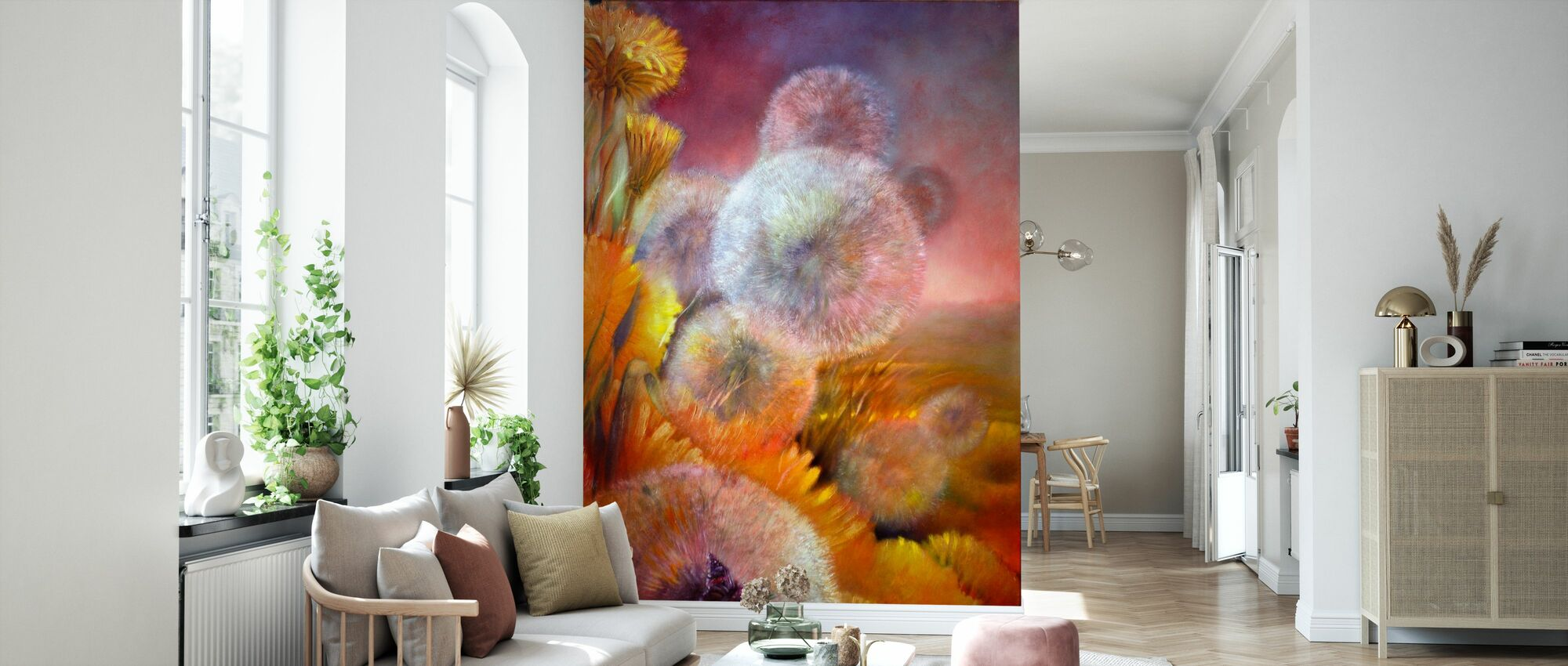 Dandelion and Butterfly - Wallpaper - Living Room