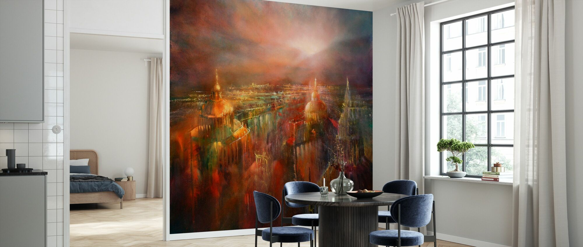 City Wakes Up - Wallpaper - Kitchen